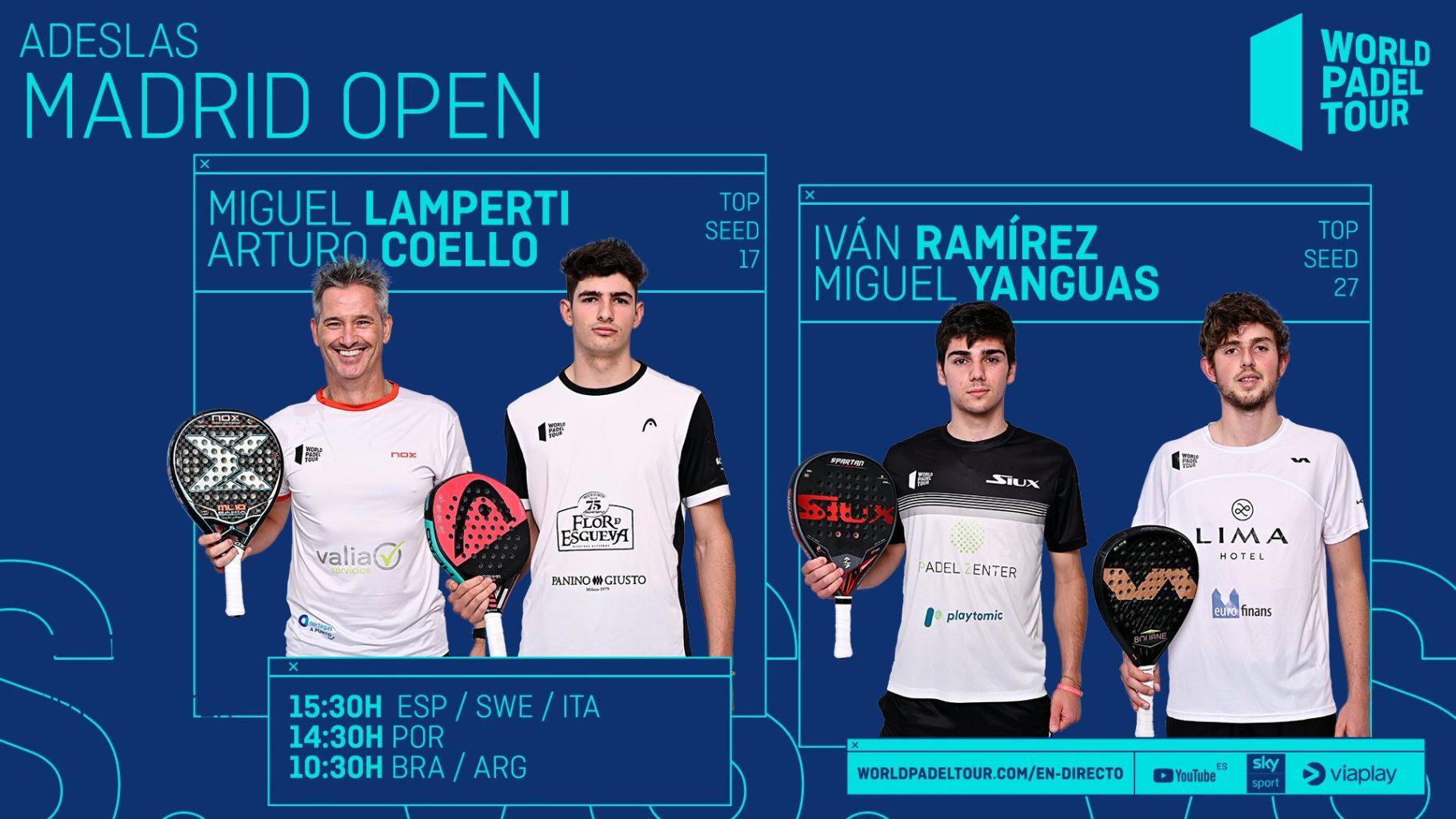 En directo los cuartos de final masculinos del Adeslas Madrid Open 2021