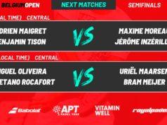 En directo las semifinales del APT Padel Tour Bélgica Open