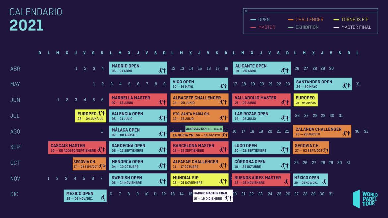 Caendario World Padel Tour 2021