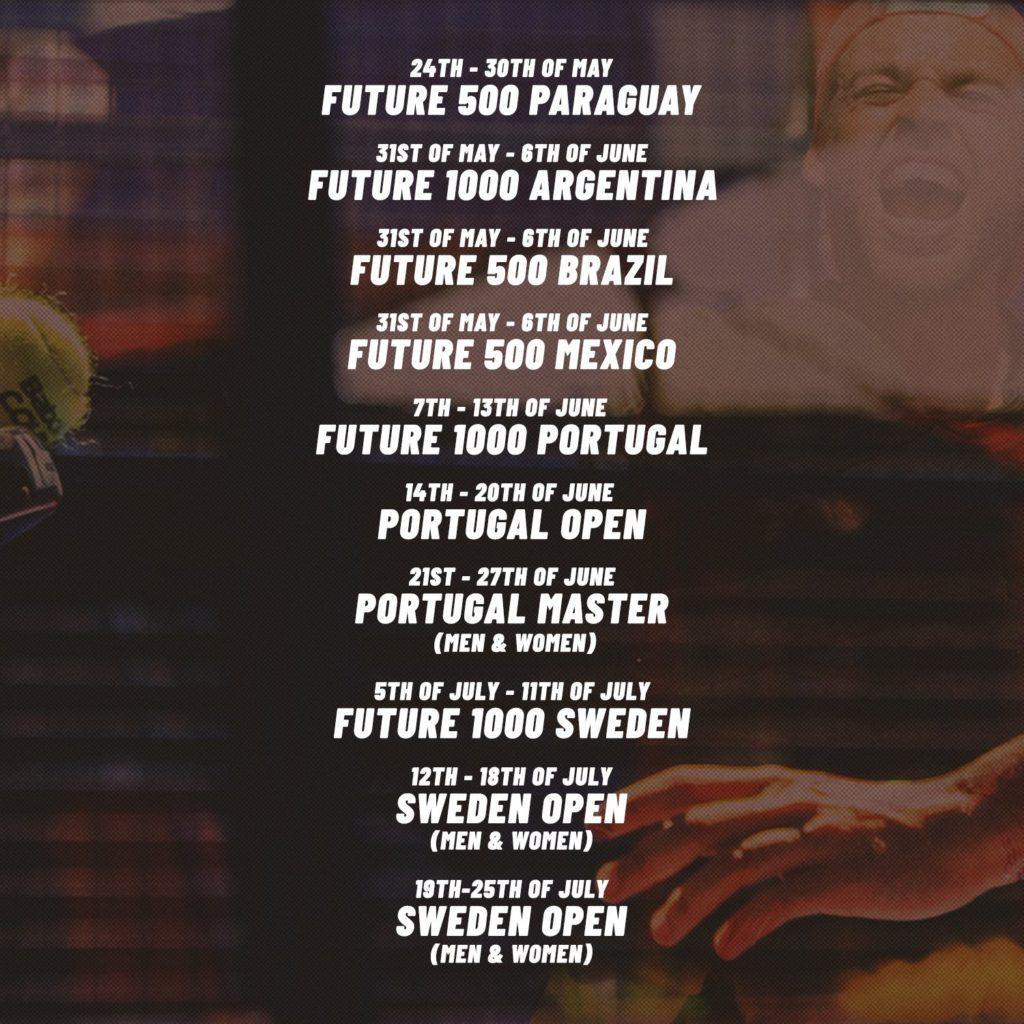 APT Padel Tour actualiza su calendario para los próximos meses