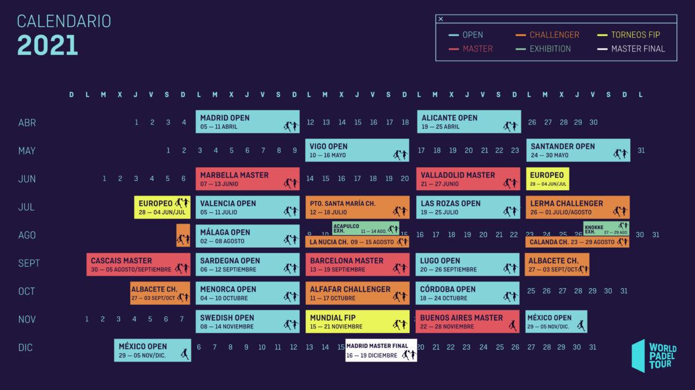 Cambios en el calendario de los torneos Challenger de World Padel Tour
