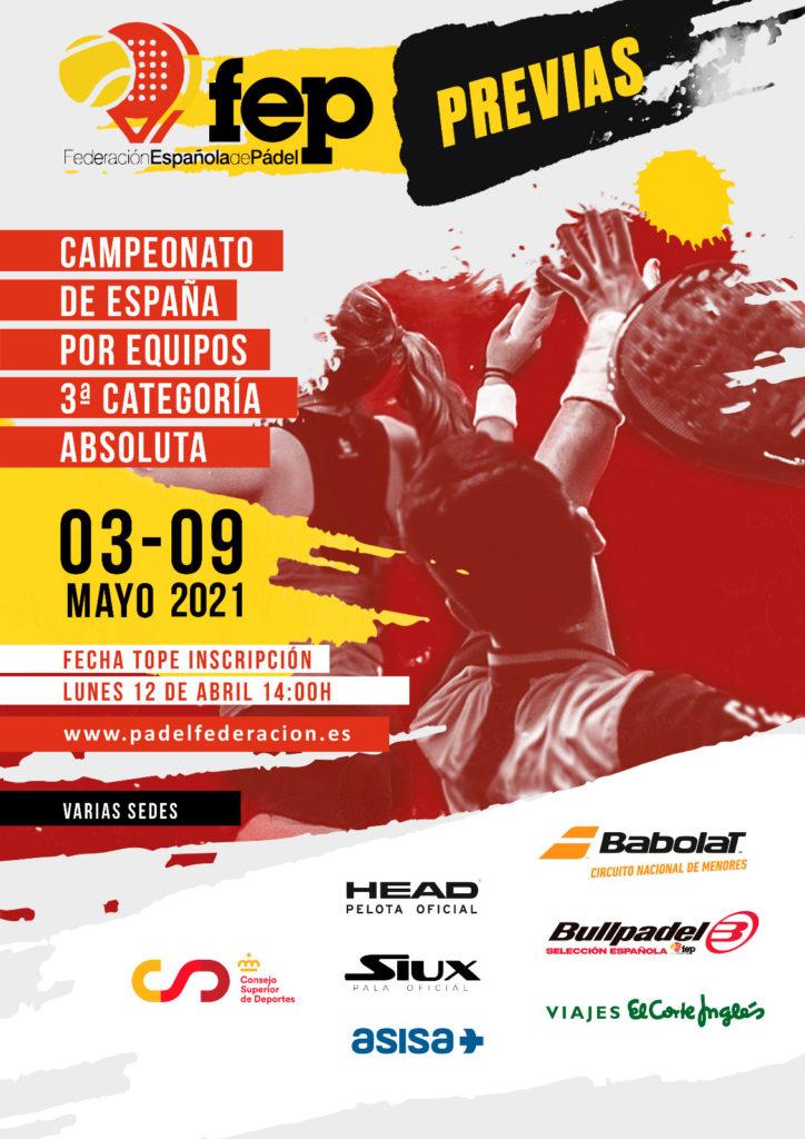 Más de 2200 deportistas disputarán las fases previas del Campeonato de España por Equipos de 3ª categoría