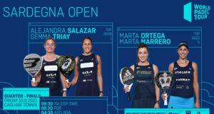 En directo los cuartos de final femeninos del World Padel Tour Sardegna Open 2021
