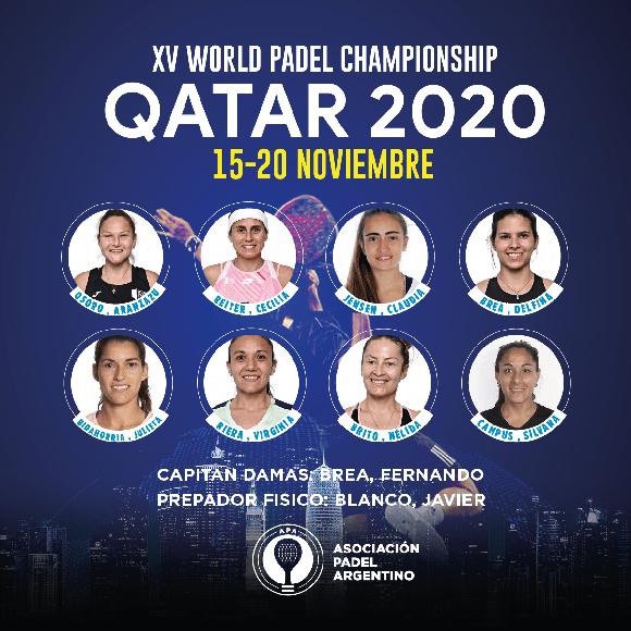 Argentina anuncia su convocatoria para el Mundial de Pádel de Qatar