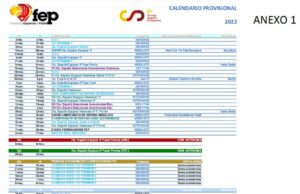 La Federación Española de Pádel presenta su calendario provisional de competición para 2022
