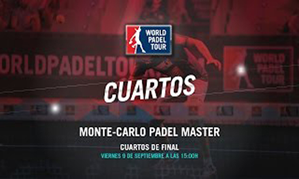Directo de los cuartos de final del Monte-Carlo Padel Master