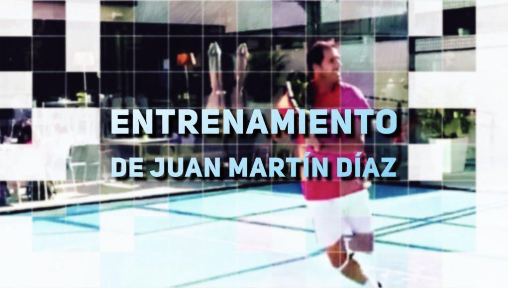 Entrenamiento de Juan Martín Díaz