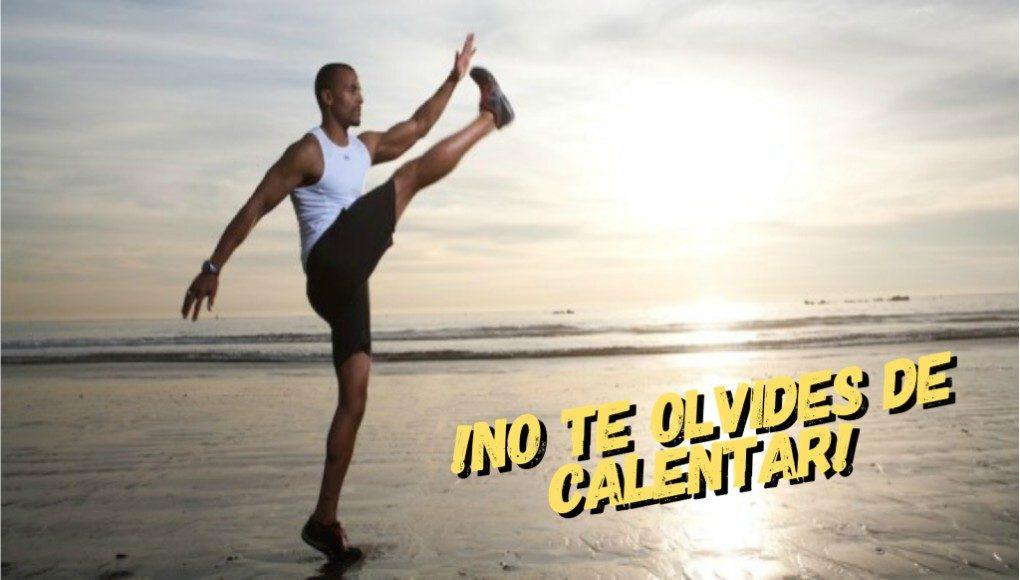 ¡No te olvides de calentar antes de hacer ejercicio!