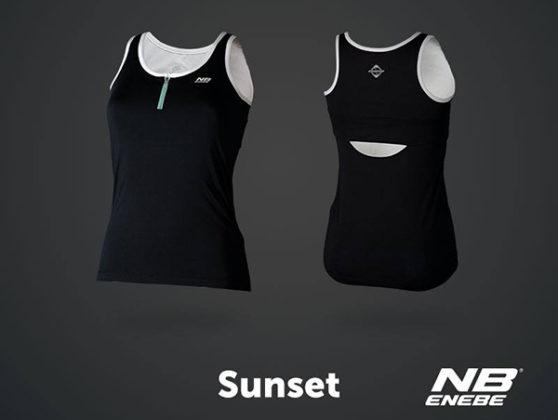 Camiseta de tirantes Sunset negra