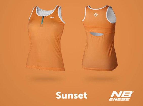 Camiseta de tirantes Sunset naranja