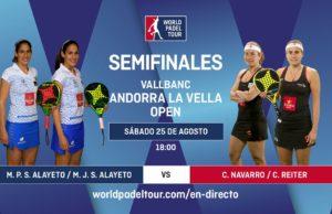 En directo las semifinales del turno de tarde del Vallbanc Andorra La Vella Open 2018