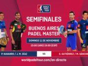 En directo la semifinal del Buenos Aires Padel Master 2018