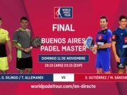 En directo la final del Buenos Aires Padel Master 2018