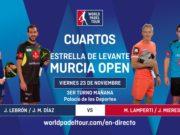 En directo los cuartos de final masculinos del Estrella de Levante Murcia Open 2018