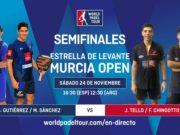 En directo las semifinales del turno de tarde del Estrella de Levante Murcia Open 2018