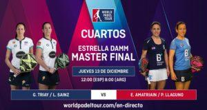 En directo la primera jornada de los cuartos de final femeninos del Estrella Damm Master Final 2018