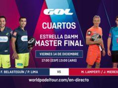 En directo la segunda jornada de los cuartos de final masculinos del Estrella Damm Master Final 2018