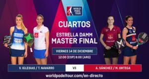 En directo la segunda jornada de los cuartos de final femeninos del Estrella Damm Master Final 2018