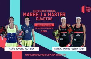 En directo los cuartos de final femeninos del Cervezas Victoria Marbella Master 2019