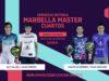 En directo las semifinales del turno de tarde del Cervezas Victoria Marbella Master 2019