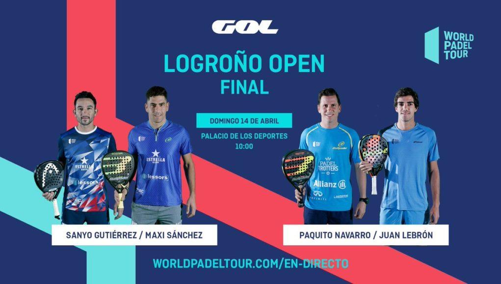 En directo las finales del World Padel Tour Logroño Open 2019