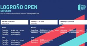 Horarios del streaming del World Padel Tour Logroño Open 2019