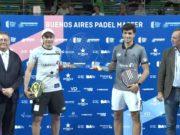 Galán y Mieres campeones del Buenos Aires Padel Master 2019 tras retirarse lesionado Bela