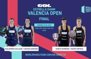 En directo las finales del Estrella Damm Valencia Open 2019