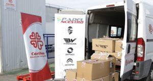 Padel Nuestro realiza su tercera donación de productos de pádel a Cáritas en 2019