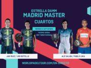 En directo los cuartos de final masculinos del Estrella Damm Madrid Master 2019