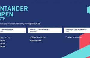 Horarios del streaming del Santander WOpen 2019