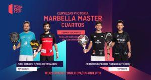En directo los cuartos de final masculinos del Cervezas Victoria Marbella Master 2020