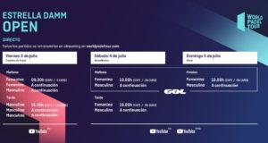 Horarios del streaming del Estrella Damm Open