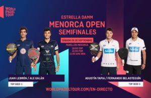En directo las semifinales del turno de tarde del Estrella Damm Menorca Open 2020