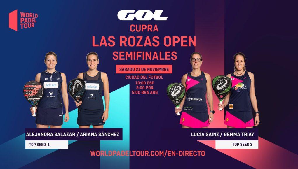 En directo las semifinales del turno de mañana del Cupra Las Rozas Open 2020