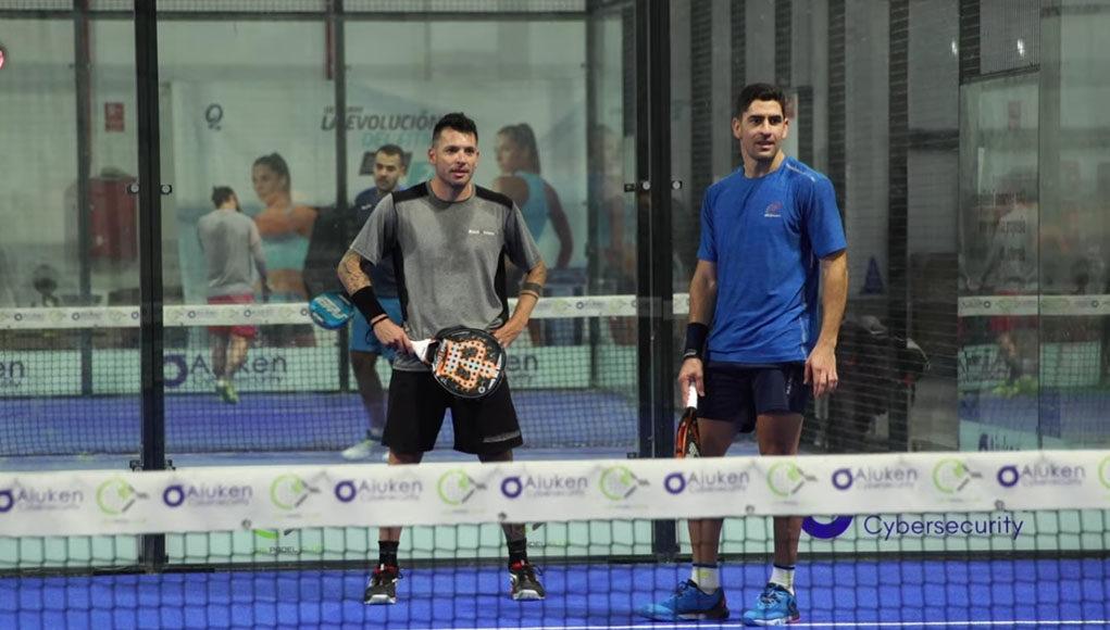 Entrenamiento de Maxi Sánchez y Adrián Allemandi