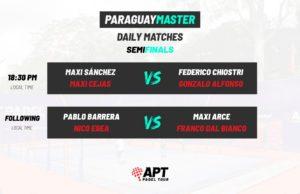 En directo las semifinales del Paraguay Master