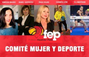 El programa 2021 del Comité Mujer y Deporte de la FEP apunta a la formación y la difusión del pádel en el ámbito escolar