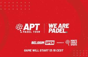 En directo los cuartos de final del APT Padel Tour Bélgica Open