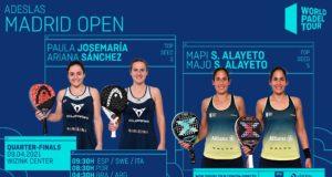 En directo los cuartos de final femeninos del Adeslas Madrid Open 2021