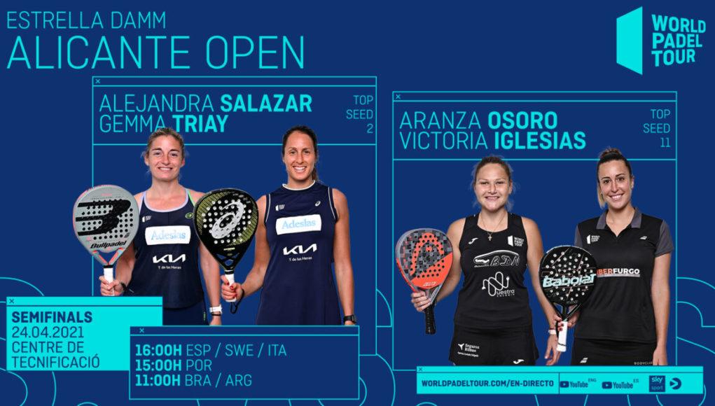 En directo las semifinales del turno de tarde del Estrella Damm Alicante Open 2021