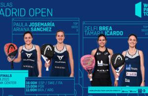 En directo las semifinales del turno de tarde del Adeslas Madrid Open 2021