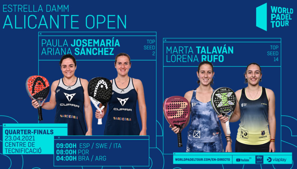 En directo los cuartos de final femeninos del Estrella Damm Alicante Open 2021