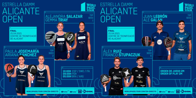 En directo las finales del Estrella Damm Alicante Open 2021