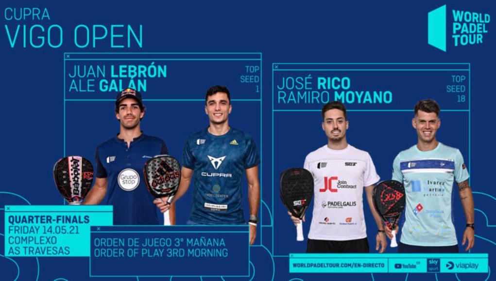 En directo los cuartos de final masculinos del Cupra Vigo Open 2021