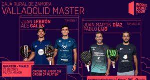 En directo los cuartos de final masculinos del World Padel Tour Valladolid Master 2021