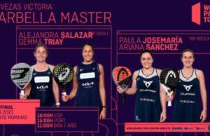 En directo las semifinales del turno de tarde del Cervezas Victoria Marbella Master 2021