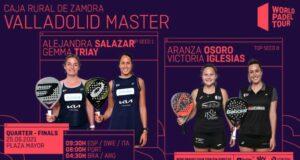 cuartos de final femeninos del World Padel Tour Valladolid Master