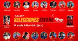 España anuncia sus selecciones para el XV Mundial de Pádel de Doha