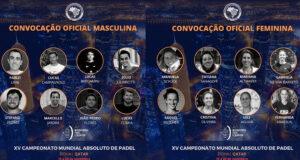 Brasil da a conocer su selección para el Campeonato del Mundo de Pádel